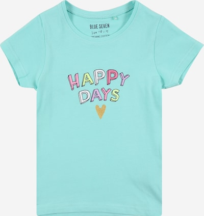 BLUE SEVEN T-Shirt in türkis / pastellgelb / gold / mauve / weiß, Produktansicht