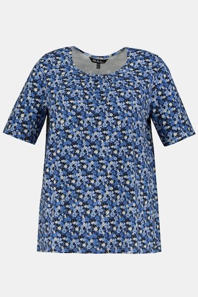 Ulla Popken T-Shirt in blau / weiß, Produktansicht