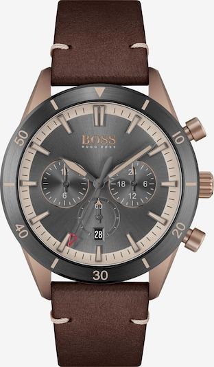 BOSS Casual Uhr in beige / braun / graphit, Produktansicht