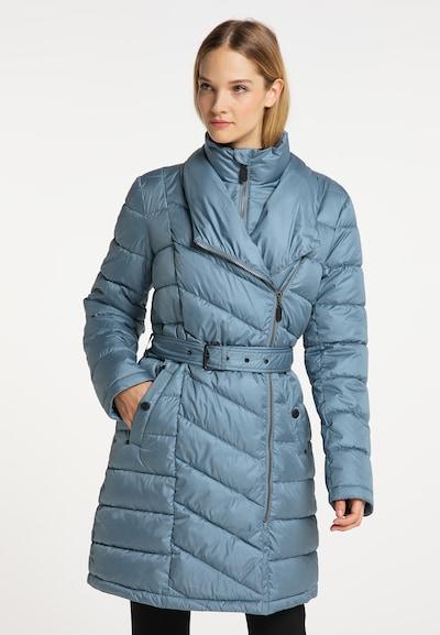 DreiMaster Klassik Mantel in rauchblau, Modelansicht