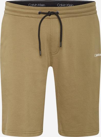Calvin Klein Pantalon en kaki / blanc, Vue avec produit