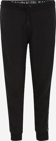 Pantalon Calvin Klein Jeans Plus en noir