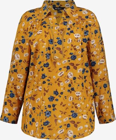 Ulla Popken Tunique en bleu / jaune, Vue avec produit