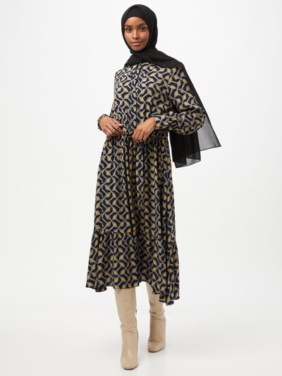 Ted Baker Kleid 'Kwalaa' in navy / gelb / weiß, Modelansicht