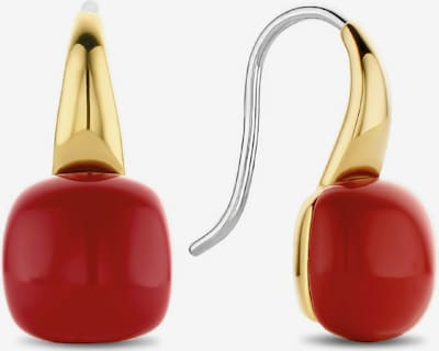Ti Sento Milano Ohrringe in gold / rot / silber, Produktansicht
