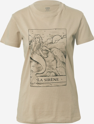 Cotton On Shirt 'CLASSIC ARTS' in hellbraun / schwarz, Produktansicht