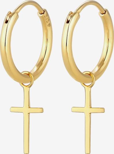 ELLI PREMIUM Ohrringe Kreuz in gold, Produktansicht