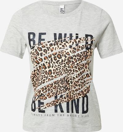 JDY T-Krekls 'WILD', krāsa - brūns / gaiši pelēks / melns / balts, Preces skats