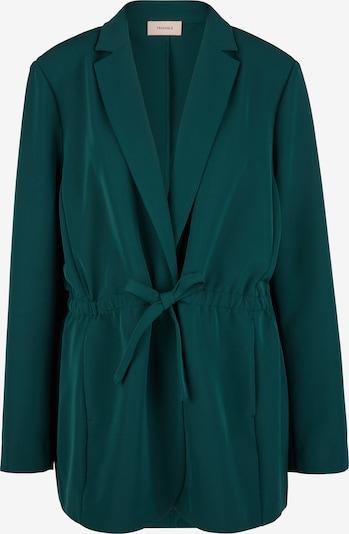 TRIANGLE Twill-Blazer mit Bindegürtel in hellgrün, Produktansicht