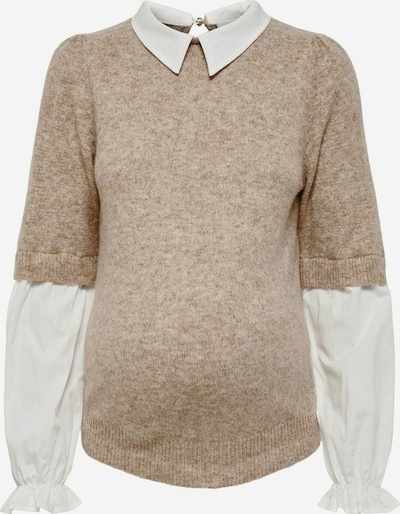 Only Maternity Pull-over en sable / coquille d'oeuf, Vue avec produit