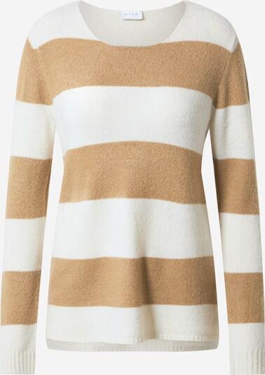VILA Pullover 'Katay' in creme / braun, Produktansicht