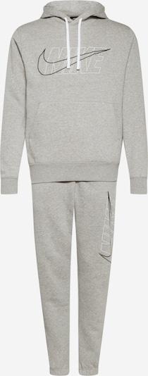 Nike Sportswear Juoksupuku värissä meleerattu harmaa / musta / valkoinen, Tuotenäkymä