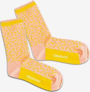 DillySocks Socken  'Sunshine Leopard' in Pink