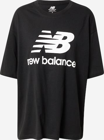 new balance Shirt 'Essentials' in Schwarz