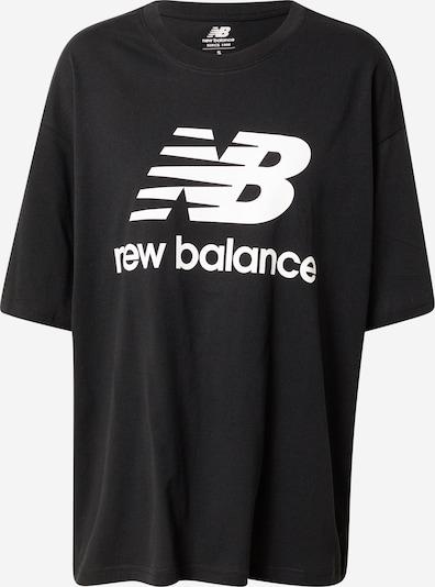 Tricou 'Essentials' new balance pe negru / alb, Vizualizare produs