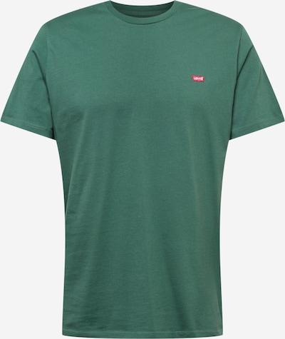 LEVI'S Shirt in dunkelgrün / rot / weiß: Frontalansicht