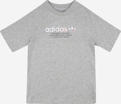 ADIDAS ORIGINALS Shirt in navy / graumeliert / hellrot / weiß, Produktansicht