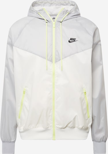 Nike Sportswear Veste mi-saison en jaune fluo / gris clair / noir / blanc, Vue avec produit