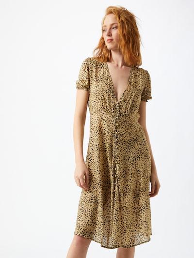 REPLAY Kleid in gelb / schwarz, Modelansicht
