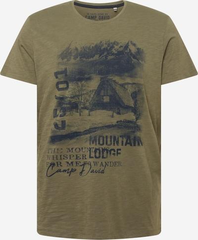 CAMP DAVID T-Shirt in grau / oliv / schwarz, Produktansicht