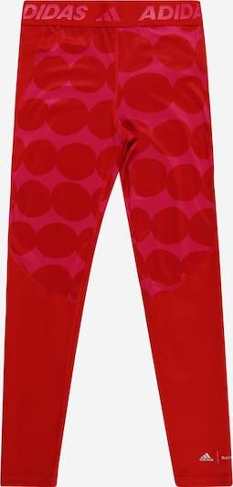 ADIDAS PERFORMANCE Sporthose in dunkelpink / rot, Produktansicht