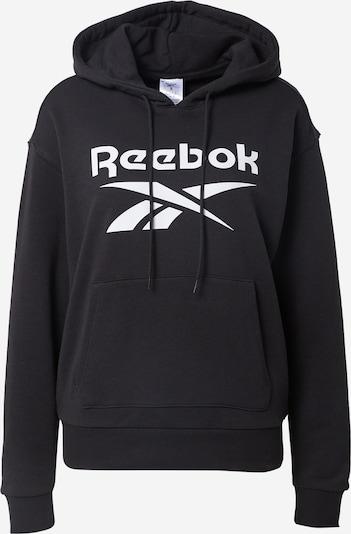 REEBOK Sportief sweatshirt 'Identity' in de kleur Zwart / Wit, Productweergave