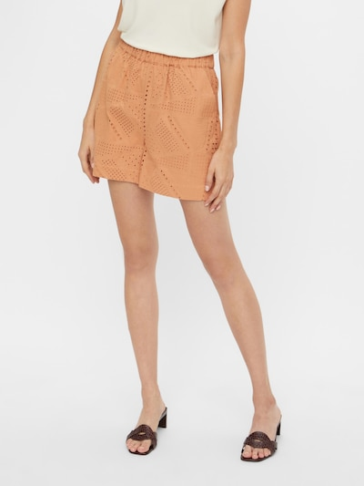 Y.A.S Pantalon 'Sado' en orange pastel, Vue avec modèle