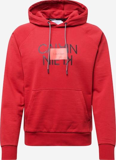 Calvin Klein Sportisks džemperis 'TEXT REVERSED HOODIE' ugunssarkans, Preces skats