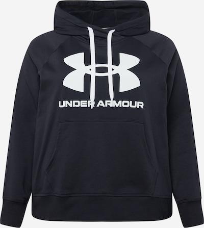 UNDER ARMOUR Athletic Sweatshirt in Black / White, Item view