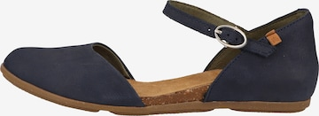 EL NATURALISTA Ballet Flats with Strap in Blue