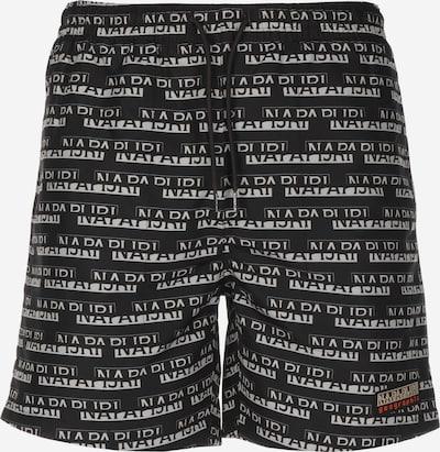 NAPAPIJRI Boardshorts ' Vedos AOP ' in de kleur Zwart / Wit, Productweergave