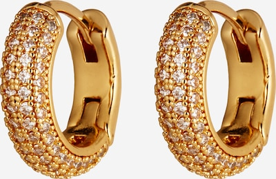 Kate Spade Earrings 'Pave Mini Huggies' in Gold / Transparent, Item view
