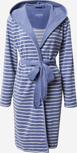 SCHIESSER Bademantel in blau / weiß, Produktansicht