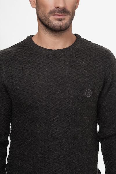 Kangol Strickpullover 'CRAWFORD' in dunkelgrau, Produktansicht