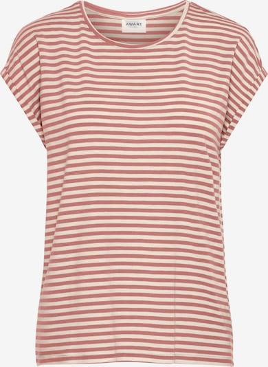 AWARE by Vero Moda T-Shirt 'AVA' in altrosa / weiß, Produktansicht
