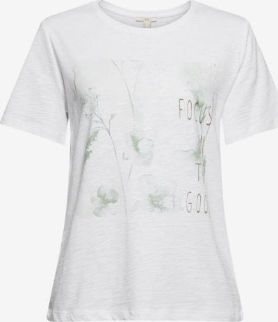EDC BY ESPRIT T-Shirt in hellgrün / weiß, Produktansicht