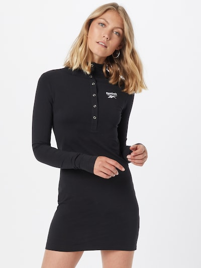 Reebok Classics Obleka 'CL WDE SLIM DRESS' | črna barva, Prikaz modela