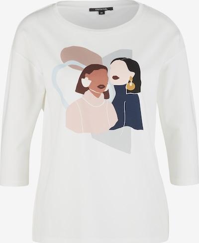 COMMA Jerseyshirt mit modischem Frontprint in weiß, Produktansicht