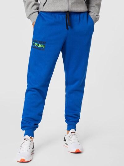 Pantaloni sport 'Rival' UNDER ARMOUR pe albastru / negru, Vizualizare model