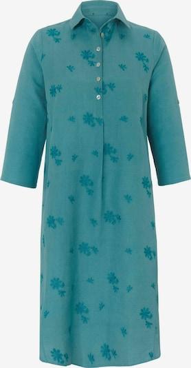 Anna Aura Sommerkleid Kleid mit 3/4-Arm in blau: Frontalansicht