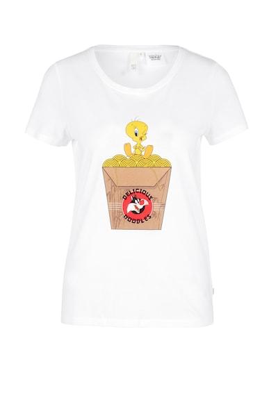 Q/S designed by Shirt in mischfarben / weiß, Produktansicht