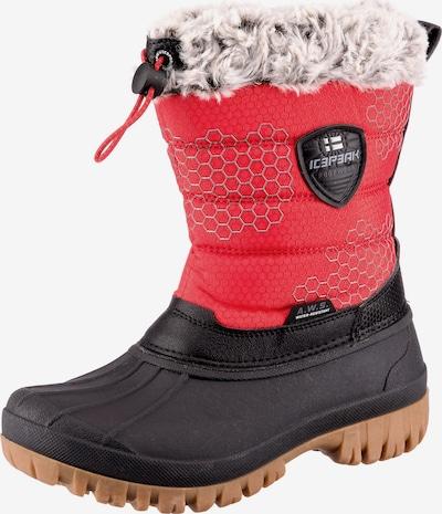 ICEPEAK Winterschuhe 'ATKA' in rot / schwarz, Produktansicht