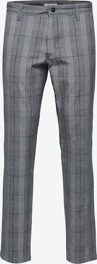 """""""Chino"""" stiliaus kelnės iš SELECTED HOMME , spalva - pilka / tamsiai pilka / balta, Prekių apžvalga"""