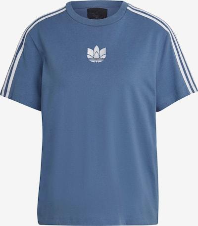 ADIDAS ORIGINALS T-shirt en bleu fumé / blanc, Vue avec produit
