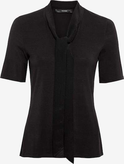 HALLHUBER T-Shirt mit Seidenschluppe in schwarz, Produktansicht