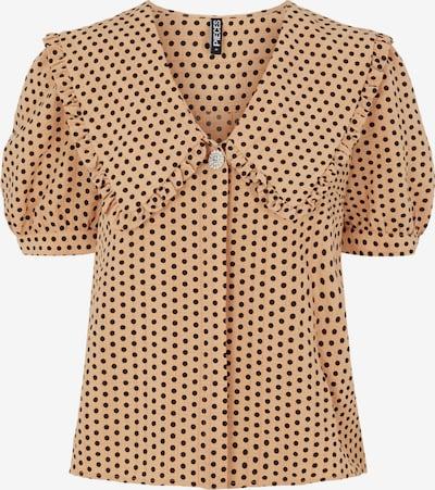 Bluză PIECES pe maro deschis / negru, Vizualizare produs