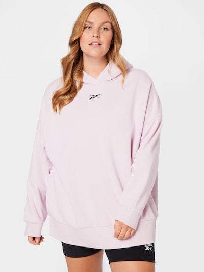 Reebok Sport Спортен блузон с качулка в бледорозово / черно: Изглед отпред