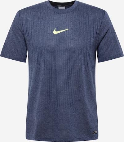 NIKE Sportshirt in navy / hellgelb, Produktansicht