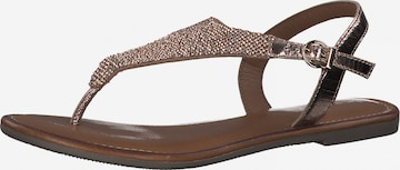 TAMARIS T-Bar Sandals in Bronze