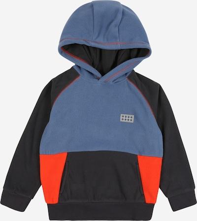 LEGO WEAR Sweatshirt 'Sinclair' in rauchblau / nachtblau / neonorange, Produktansicht